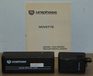 Uniphase Novette Helium Neon Gas Laser Model 1508 0 Manual