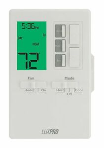 Luxpro 1 Heat 1 Cool Vertical Programmable Thermostat P711v