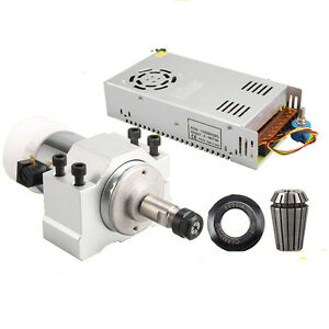 300w Air Cooling Spindle Motor power Governor mount Bracket Cnc Machine Dc 24v