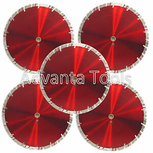 5pk 14 Diamond Saw Blade For Block Concrete Paver Brick Refractory Brick 15mm