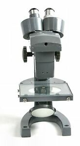 Bausch Lomb Stereo Microscope Three Sliding Objectives Mirror