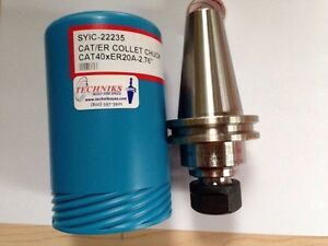 Techniks Cat 40 X Er20a 2 76 Collet Chuck Holder