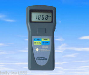 1pcs New Dt 2857 Digital Tachometer Laser Type Photo Contact 2 5 99 999rpm