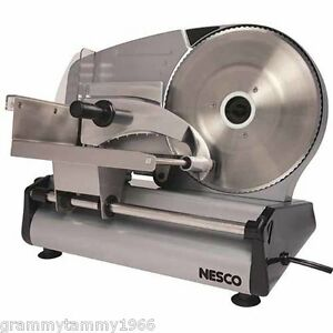 Electric Meat Slicer Food Machine Cutter Deli Cheese Stainless Steel Kitchen New