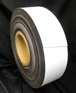 Dry wet Erase Magnetic Label Roll White 2 X 75 Ft Roll non Perforated