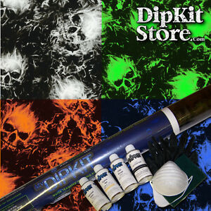 Hydrographics Dip Kit Activator Water Transfer Flaming Skull Hydro Dip Ll 713