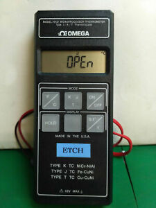 5181 Omega Microprocessor Thermometer Type J k t Thermocouple Hh21
