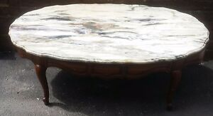 Vintage Italian Marble Top Cocktail Coffee Occasional Table Furniture