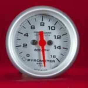 Autometer Gauge Ultra Lite 2 1 16 Pyrometer 0 1600 Degrees F 4344