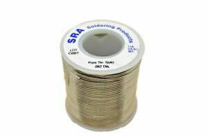 Lead Free Solid Core Solder Pure Tin 062 inch 1 pound Spool