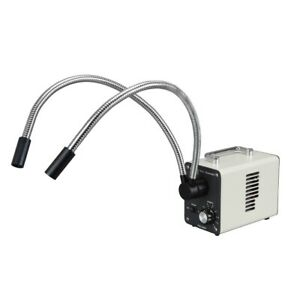 50w Cold Fiber Optic Microscope Led Illuminator Dual Gooseneck Lights