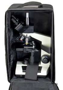 40x 1000x Lab Biological Trinocular Compound Led Microscope W Carrying Case