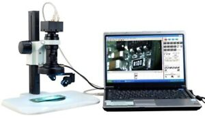 Inspection 3 Dimension Rotary Zoom Microscope With Usb2 0 Port Led Ring Light