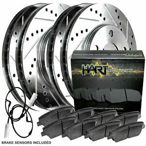 Full Kit Platinum Hart Drilled Slot Brake Rotors And Ceramic Pad Phcc 3403302