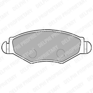Brake Pad Set Disc Brake-Delphi lp1699