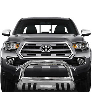 Wynntech Bull Bar Bumper Guard For 2016 2019 Toyota Tacoma T304 Stainless Steel