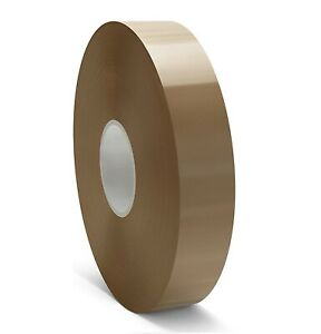 2 X 1000 Yards Tan Machine Acrylic Packing Tape Brown Color 270 Rolls
