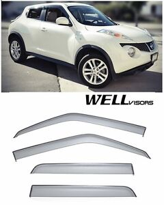 For 11 Up Nissan Juke Wellvisors Clip On Sleek Hd Side Window Visors Smoke Tint