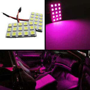 15 smd Universal Panel Festoon Leds License Plate Interior Trunk Lights pink