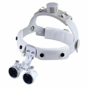 3 5x Headband Dental Binocular Loupes Surgical Magnifier Dy 108 White Us Stock