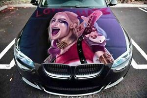 Harley Quinn Suicide Squad Hood Full Color Top Graphics Wrap Decal Vinyl Sticker
