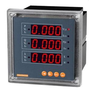 3p Three Phase Led Digital Multifunction Electricity Meter V A P Q Hz Kwh Kvarh