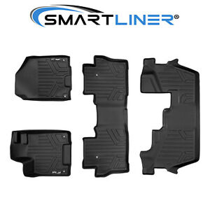 Maxliner Floor Mats 3 Row Set Black For Pilot 2016 2019 8 Passenger Model