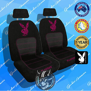 Purple Playboy Car Seat Covers