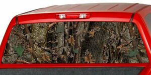 Camo Oak Ambush Perforated Window Tint Graphics Decal Sticker Truck Suv Ute Cap