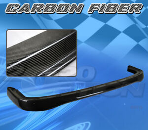 For Acura Integra 90 91 T R Style Front Bumper Lip Body Kit Carbon Fiber Cf