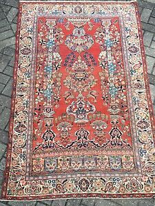 4 2 X 6 9 Antique Kashan Persian Hand Knotted Wool Oriental Rug