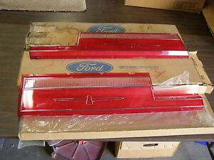 Nos Oem Ford 1977 1978 Thunderbird T Bird Tail Light Lenses Lens Pair Lamps