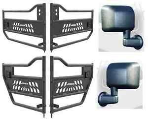 Aries Tubular Front Rear Doors And Bestop Mirror Kit For Jeep Wrangler Jk
