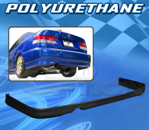 For Honda Civic 1999 2000 2 4 Dr T R Style Rear Bumper Lip Body Kit Polyurethane