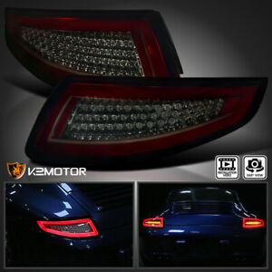 2005 2008 Porsche 911 997 Carrera Targa Gt3 Gt2 Smoke Red Led Tail Lights Lamps
