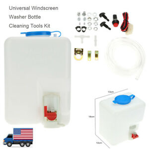 Washer Tank Pump Bottle Kit Windshield Wiper Systems Quality Reservoir Universal