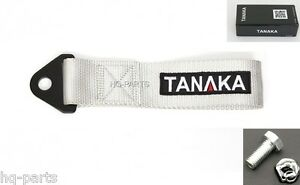 Tanaka High Strength Universal Gray Racing Sports Tow Strap Tow Hook