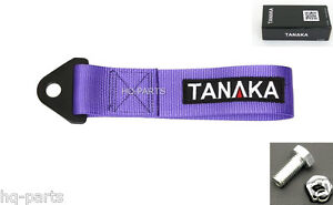 Tanaka High Strength Universal Purple Racing Sports Tow Strap Tow Hook