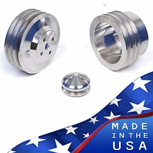 Amc Jeep Pulley Kit 304 360 401 Crank Water Pump V8 Amx