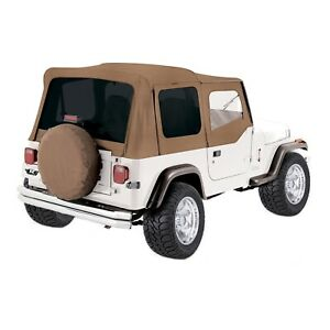 Rampage 99417 Denim Spice Replacement Soft Top For 87 95 Jeep Wrangler Yj