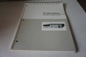Agilent Hp 3458a Assembly Level Repair Manual 03458 90010