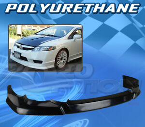 For Honda Civic 09 11 4dr T hfp Style Front Bumper Lip Body Kit Polyurethane Pu