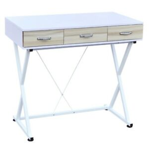 Homegear Compact Computer Work Office Desk With Drawers