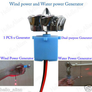 Led Display Mini Wind Turbines Hydroelectric Power Generator Science Project Diy
