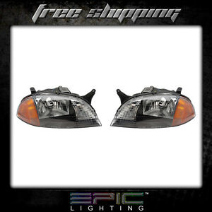 Fits 1998 01 Chevrolet Metro Suzuki Swift Headlights Headlamps Pair Left Right