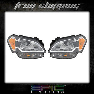 Fits 2010 11 Kia Soul Headlights Headlamps Pair Left Right Set