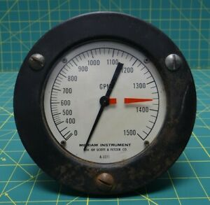 Meriam Instrument Differential Pressure Unit Model 1124 Gauge A 0011 0 1500 Gpm