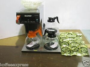 Bunn Cwtf 35 Lower 3 Burner 220v Auto Coffee Brewer Combo Pots Filters Coffee