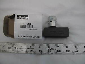 1 New Parker F600s Flow Control Hydraulic Valve Steel 3 8 18 8 Gpm