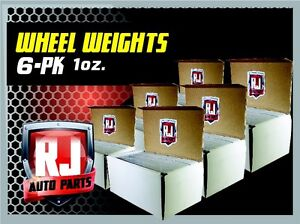 6 Boxes 1 Oz Stick on Adhesive Wheel Weights 864 Oz 864 Pieces 54 Lbs